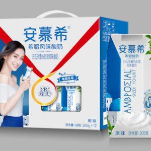 AMXXLYW/安慕希希腊酸奶原味205gx12P/箱