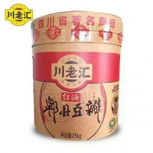 CLHHYDBZT/川老汇红油郫县豆瓣-纸桶25kg/桶