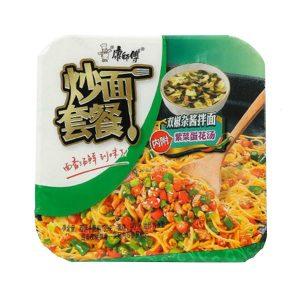 KSFCMTCSJZJ/康师傅炒面套餐双椒杂酱139g