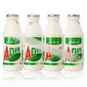 娃哈哈AD钙奶原味4瓶装220ml x 4pk/WaHaHa AD Milk Original Flavor 220ml x 4pk