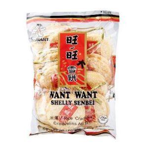 4710144802380/WW Shelly Senbei Rice Cracker 150g 旺旺大雪饼原味