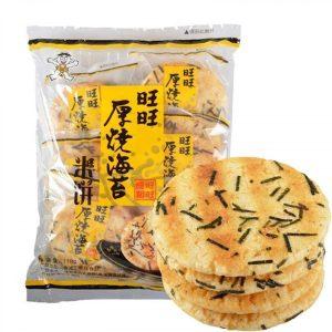 4710144802779/WW Seaweed Rice Cracker 136g 旺旺厚烧海苔味米饼
