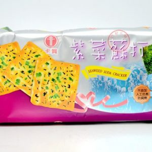 4710774010353/KAHO SEAWEED SODA BISCUITS 140g 卡贺原野香紫菜苏打饼干