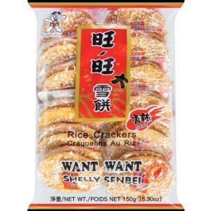 4711127202265/WW Shelly Senbei Rice Cracker Spicy 150g 旺旺大雪饼香辣味