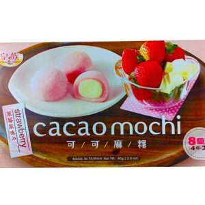 4711931028617/RF CAOCAO MOCHI STRAWBERRY FLAVOR 8P 80g 皇族可可麻薯草莓味