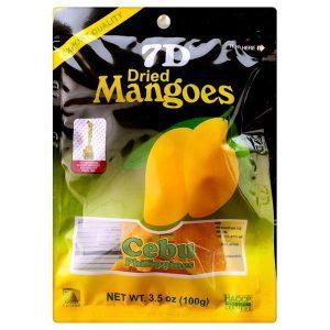 4809010272010/7D Dried Mango 100g 7D菲律宾芒果干