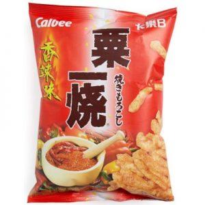 4892294101428/Calbee Grill A Corn - Hot & Spicy 80g卡乐A薯片香辣味