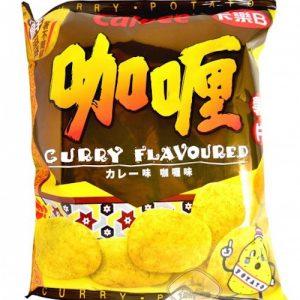 4901330300081/Calbee Potato Chips Curry Flavour 55g卡樂B咖喱薯片