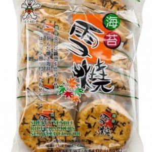 686352202783/WW Shelly Senbei Rice Crackers Seaweed Flavor 160g 旺旺海苔雪烧方饼