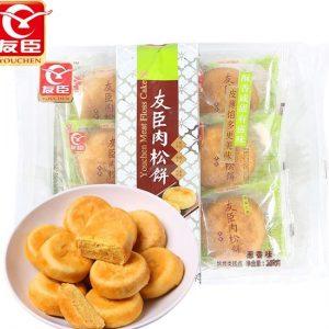 6958620700463/YC Chicken Meat Floss Cake Pie Onion Flavor 208g 友臣葱香味肉松饼