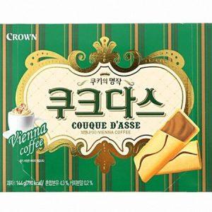 8801111186087/CROWN Couque D'asse Coffee Slim 144g 咖啡夹心条