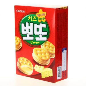 8801111614139/CROWN Bboto Cheese Flavour Biscuit 161g 芝士夾心餅干