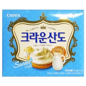 8801111917469/CROWN  Sweet Milk Sando Biscuits 161g牛奶夾心餅
