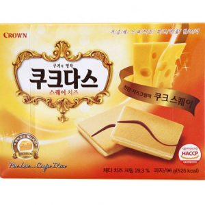 8801111918572/CROWN Cheese Flavour Biscuit 192g  芝士味夹心蛋卷
