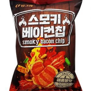 8801111931724/BINGGRAE Smoky Bacon Chips70g 烟熏培根味薯片