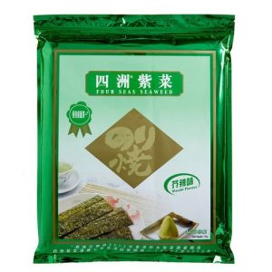 8888339005208/FOUR SEAS Seaweed Wasabi 100 small packs 75g 四洲芥辣紫菜