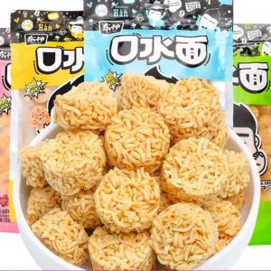 DSNSDF200G/DONG SHEN Dried Noodle Snacks Duck Flavor 200g东神口水面黑鸭味(黄色)