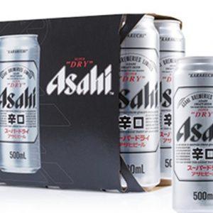 ASAHI Super Dry Beer 500ML x 6P 朝日啤酒6连罐装