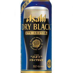 ASAHI DRY BLACK BEER CANNED 350ML