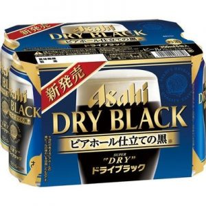 ASAHI DRY BLACK BEER CANNED 350MLX6P