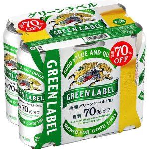 KIRIN 500MLX 6P 4.5% 绿标发泡酒 6连罐