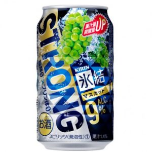 KIRIN HYOKETSU STRONG GREEN GRAPE FLAVOR SPARKLING 350ML浓青葡萄味气泡酒