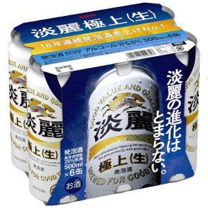 KIRIN 500MLX6P  5.5% 淡丽 极上气泡酒6连罐