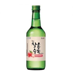 50031/CHATEUL Strawberry Flavor Korean Soju  360ML 14% 韩国草莓烧酒