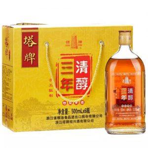 6901216038167/塔牌三年清醇绍兴黄酒 500ML 12%