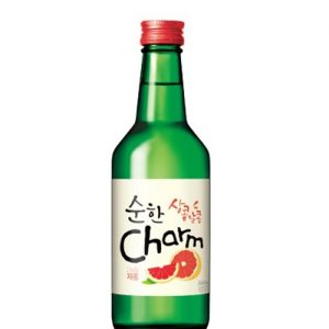 8801080313118/CHARM GRAPEFRUIT Flavor  Korean Soju 360ML 14%  韩国超水配制葡萄柚味烧酒