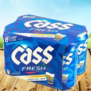 8801858011116/CASS KOREA  BEER CANNED 355MLx6P 韩国凯狮啤酒6罐装