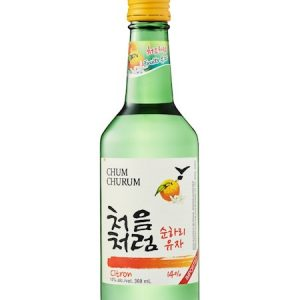 8802340112151/CHUM CHURUM CITRON Flavor  Korean Soju  360ML  14% 韩国初饮初乐味烧酒