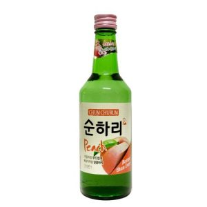 8802340112168/CHUM CHURUM PEACH Flavor Korean Soju 360ML 12% 韩国初饮初乐桃子味烧酒