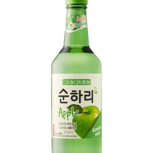 8802340112175/CHUM CHURUM APPLE Flavor  Korean Soju 360ML 12% 韩国初饮初乐苹果烧酒