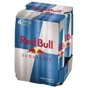 Red Bull Sugarfree Energy Drink 250mlX4P 澳洲红牛4连罐无糖