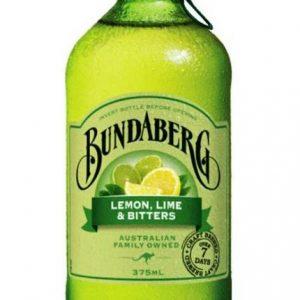 BUNDABERG Lemon Lime&Bitters Sparkling Drink 375ml  果汁
