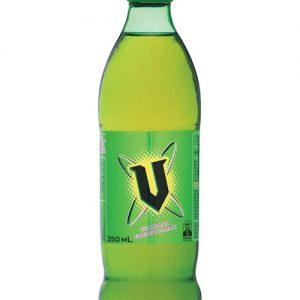 V Energy Drink Bottle Green 350ml