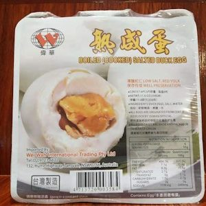 WEIWAH BOILED SALTED DUCK EGGS 330G 6P 伟华熟咸蛋 330G 6P