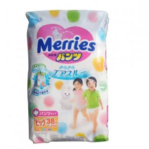 KAO MERRIES NAPPIES  PANTS FOR 12-22KG BABY UNISEX SIZE XL 38P 日本花王婴儿尿不湿38片