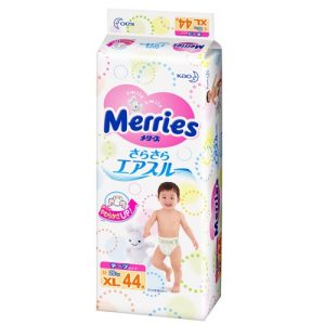 KAO MERRIES NAPPIES  PANTS FOR 12-20KG BABY UNISEX SIZE XL 44P 日本花王婴儿干爽尿不湿 44片