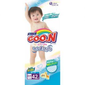 GOON NAPPY PANTS  FOR 12-20KG  BABY UNISEX SIZE XL 42P 日本大王纸尿裤42片
