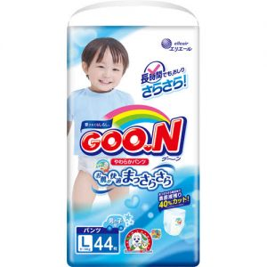GOON NAPPY PANTS  FORTYPE 9-14KG  FOR BOY SIZE L 44P 日本大王纸尿裤44片