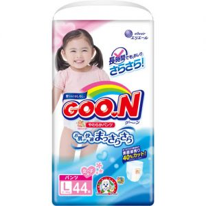 GOON NAPPY PANTS  FORTYPE 9-14KG FOR GIRL SIZE L 44P 日本大王纸尿裤44片