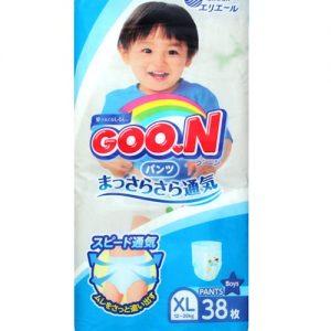 GOON NAPPY PANTS  FOR 12-20KG FOR BOY SIZE XL 38P 日本大王纸尿裤38片