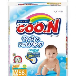 GOON NAPPY PANTS  FOR 7-12KG BABY UNISEX SIZE M 58P 日本大王纸尿裤58片