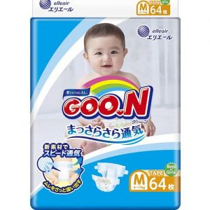 GOON NAPPY PANTS  FOR TYPE 6-11KG  BABY UNISEX SIZE M 64P 日本大王纸尿裤64片