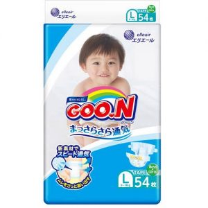 GOON NAPPY PANTS  FOR 9-14KG  BABY UNISEX SIZE L 54P 日本大王纸尿裤54片