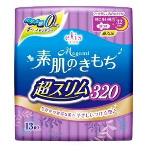 Japanese Elis Megami Ultra Slim Night Sanitary Pads  320mm Wing 13P 日本超薄透气干爽加长护翼夜用卫生棉13枚(夜用)