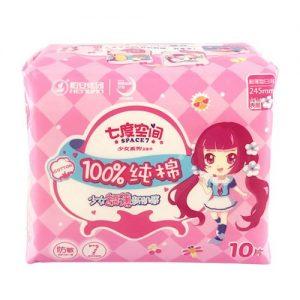 七度空间超薄纯棉日用卫生巾245mm10片(日用)
