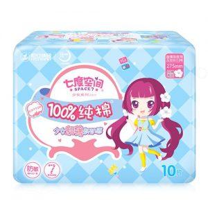 七度空间超薄纯棉加长日用/夜用卫生巾275mm10片(日用/夜用)